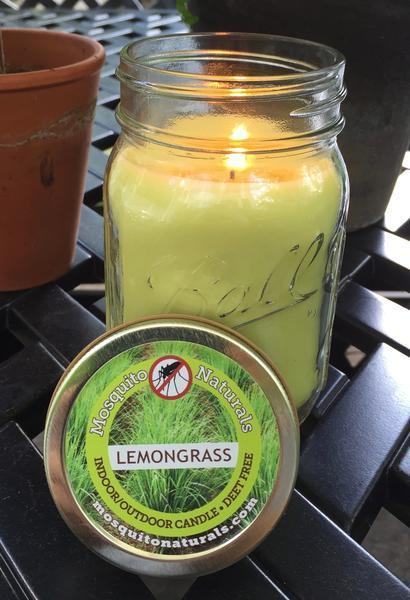 Natural Lemongr Mosquito Repellent Candle